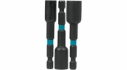 "Makita A-97689  ImpactX 3 Piece 2-9/16"" Magnetic Nut Driver Set, 1/4"", 5/16"", 3/8"""