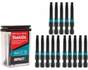 "Makita A-99792  ImpactX #2 Square Recess 2"" Power Bit, 15 per package"