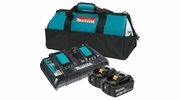 Makita BL1850B2DC2X   18V LXT Lithium-Ion Battery and Dual Port Charger Starter Pack (5.0Ah) With Bag