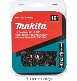 "Makita E-00256  16"" Saw Chain, 3/8"" LP, .050"""