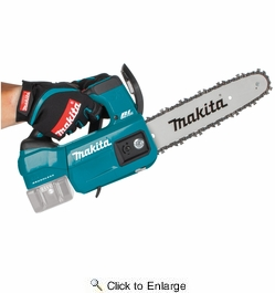 """Makita XCU06Z  18V LXT Lithium-Ion Brushless Cordless 10"""" Top Handle Chain Saw (Tool Only)"""