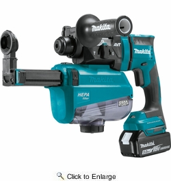 "Makita XRH12TW  18V LXT Lithium?Ion Brushless Cordless 11/16"" AVT Rotary Hammer Kit"
