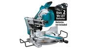 """Makita XSL04ZU  18V X2 LXT Lithium-Ion (36V) Brushless Cordless 10"""" Dual-Bevel Sliding Compound Miter Saw, AWS and Laser, Tool Only"""