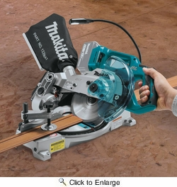 """Makita XSL05Z  18V LXT Lithium-Ion Brushless Cordless 6-1/2"""" Compact Dual-Bevel Compound Miter Saw with Laser, Tool Only"""