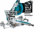 """Makita XSL08Z  18V X2 (36V) LXT Lithium-Ion Brushless Cordless 12"""" Dual?Bevel Sliding Compound Miter Saw, AWS Capable and Laser (Tool Only)"""