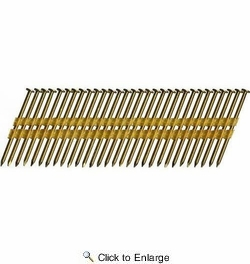 """Metabo HPT 10115HPT  3"""" x 0.131"""" Full Round Head Electro Galvanized Smooth Shank Plastic Strip Framing Nails 4000 count"""