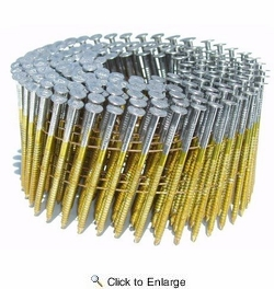 "Metabo HPT 12216HPT  3"" x 0.131"" Full Round Head Brite Smooth Shank Basic Wire Coil Framing Nails 4000 count"