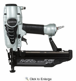 """Metabo HPT NT65M2SM  2-1/2"""" 16-Gauge Finish Nailer with Air Duster"""