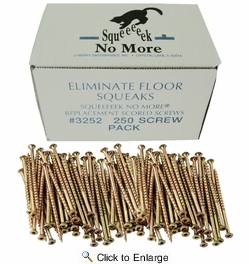 O'Berry 3252  'Squeeeeek No More' Specially Scored Square Drive Floor Screws - 250 per Package