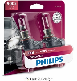 Philips 9005VPB2  Vision Plus Headlight