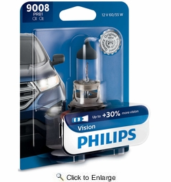 Philips 9008PRB1  (H13) Vision Headlight