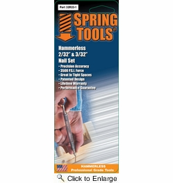 "Spring Tools 32R23-1  Double Ended Hammerless 2/32"" & 3/32"" Nail Set"