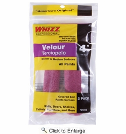 """Whizz 51012W   Purple Velour Roller Cover 4"""" x 3/16"""" Nap - 2 Pack"""