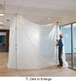 ZipWall SLP4  12' Spring-Loaded Poles for Dust Barriers - 4-per Package