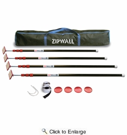 ZipWall ZP4  10' Spring-Loaded Poles for Dust Barriers - 4-per Package