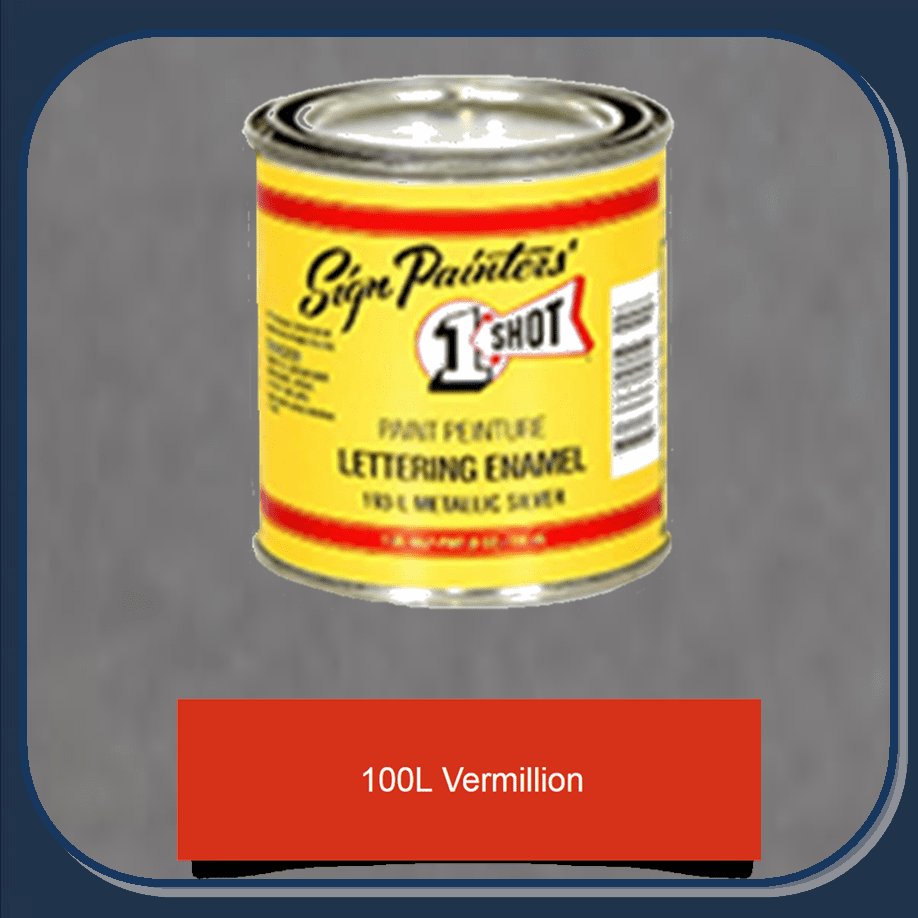 "1 Shot 100L-4Z ""Vermillion"" Stripe & Lettering Enamel 1/4 Pint"