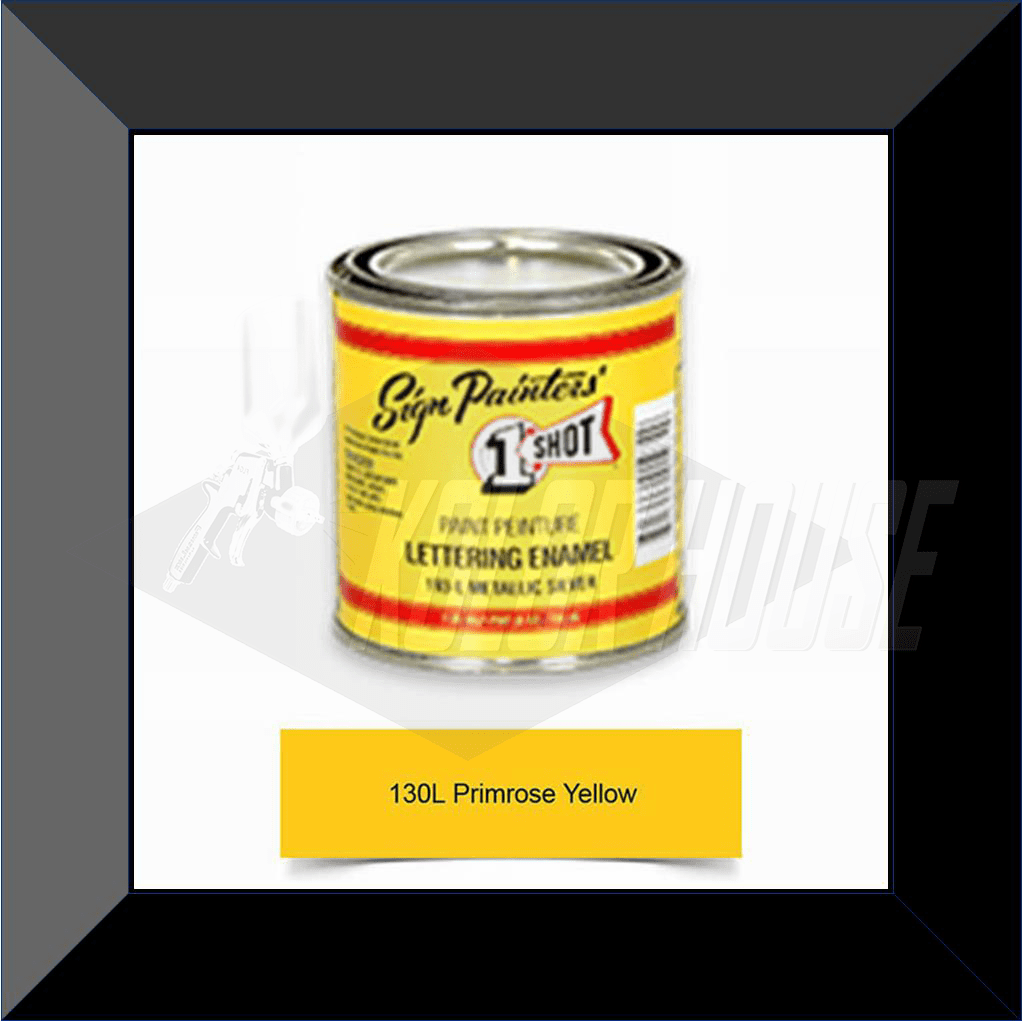 "1 Shot 130L-8Z ""Primrose Yellow"" Stripe & Lettering Enamel 1/2 Pint"