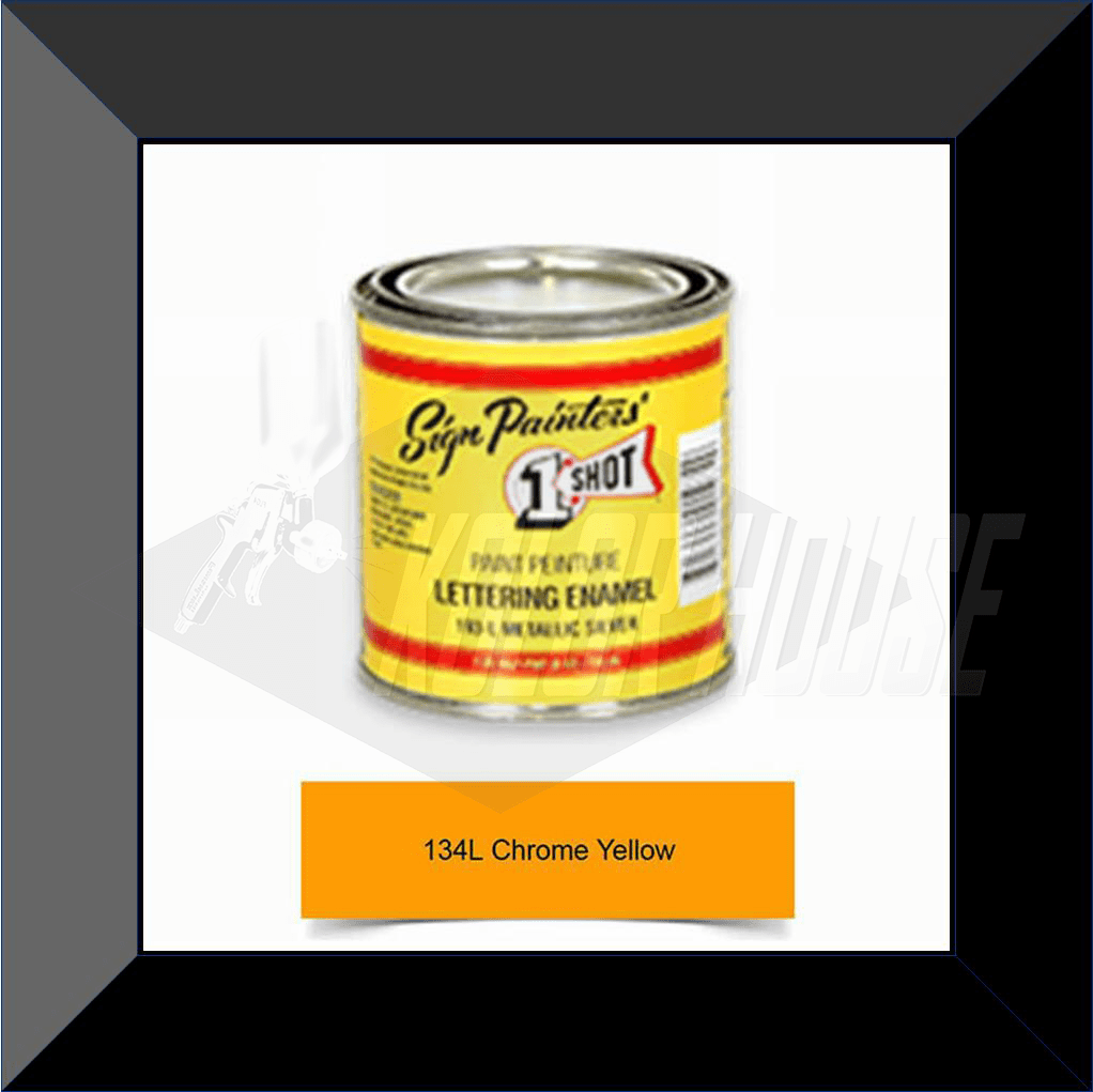 "1 Shot 134L-8Z ""Chrome Yellow"" Stripe & Lettering Enamel 1/2 Pint"