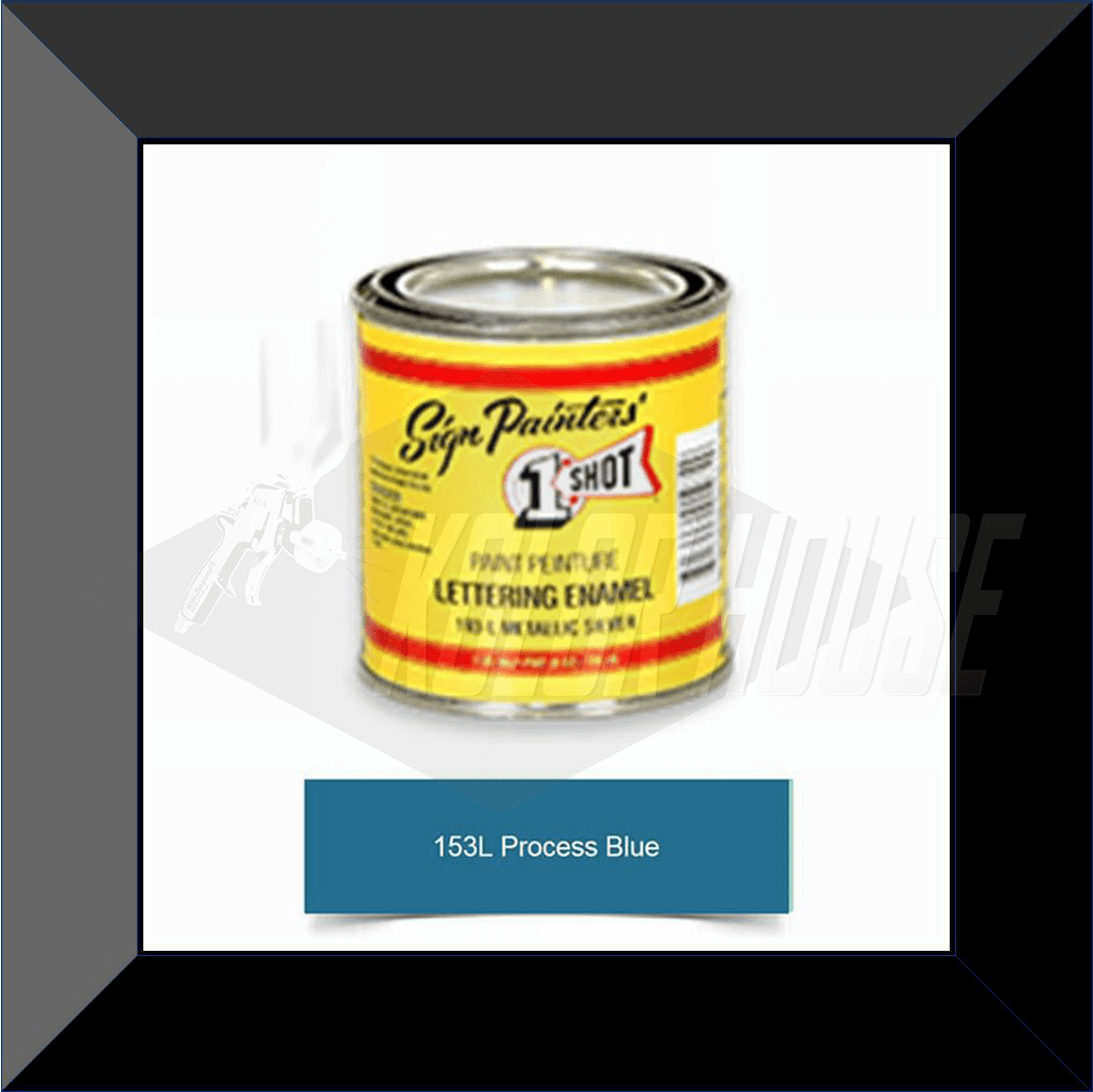 "1 Shot 153L-8Z ""Process Blue"" Stripe & Lettering Enamel 1/2 Pint"