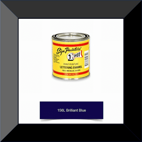"1 Shot 156L-4Z ""Brilliant Blue"" Stripe & Lettering Enamel 1/4 Pint"