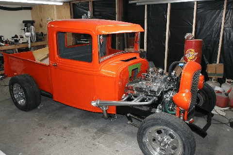 32 Ford Being restored by Joe S in Shoreham, NY. Paint color is PBC32 TANGELO PEARL AND UC35 CLEAR
