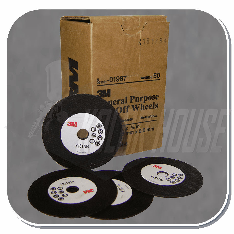 3M-01987 General Purpose Cut-Off Wheel, 3 in x 1/32 in x 3/8 in, 50 per case