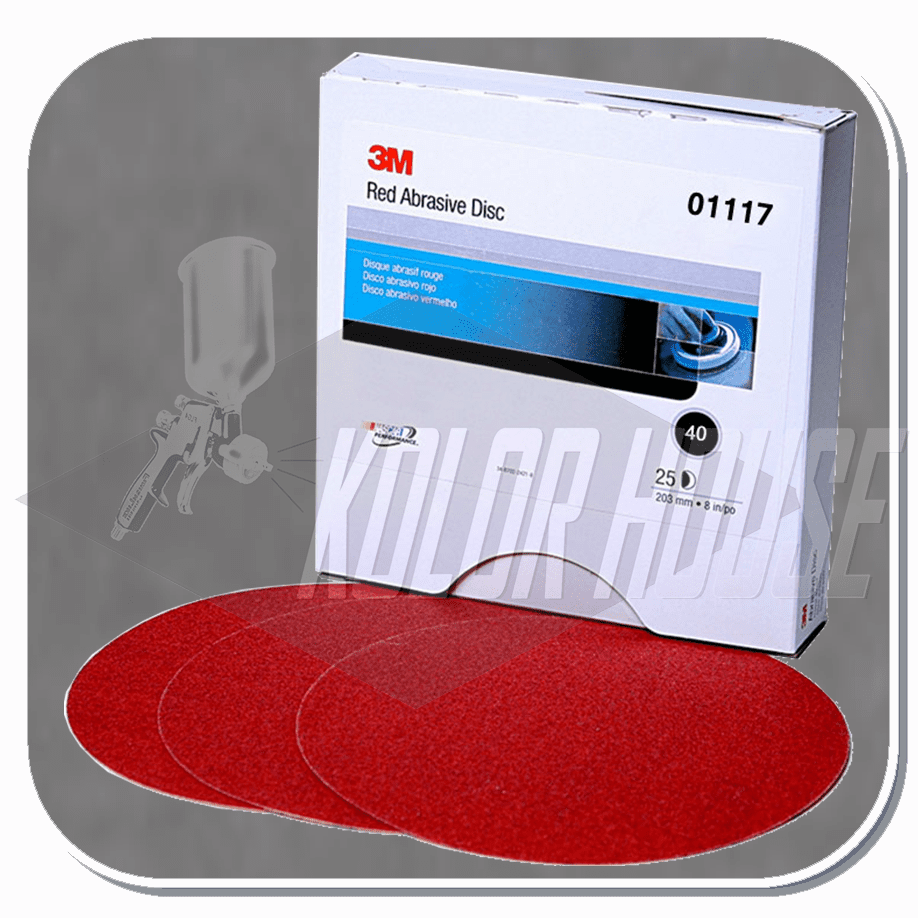 3M 6 in, 40D, Red Abrasive Stikit Disc, 25 discs per box