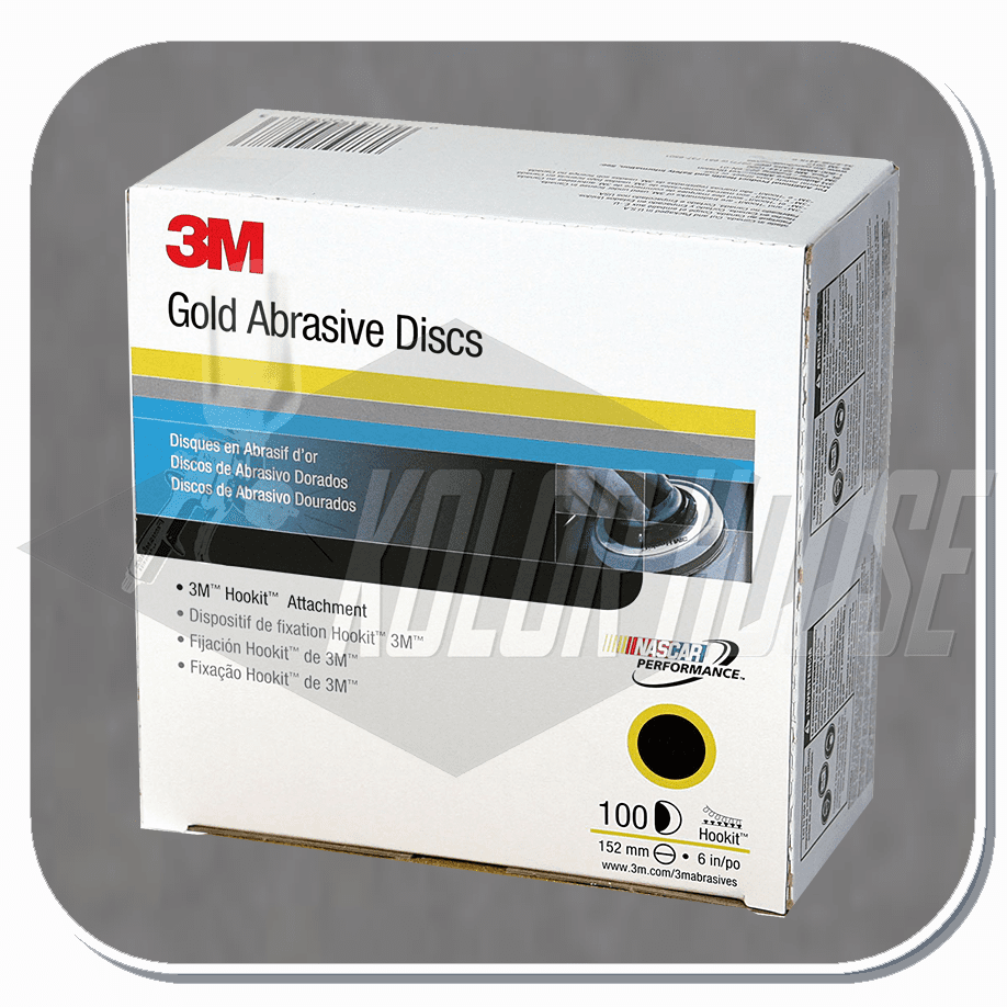 3M 6 in, P320A, Hookit Gold Disc 216U, 100 discs per box