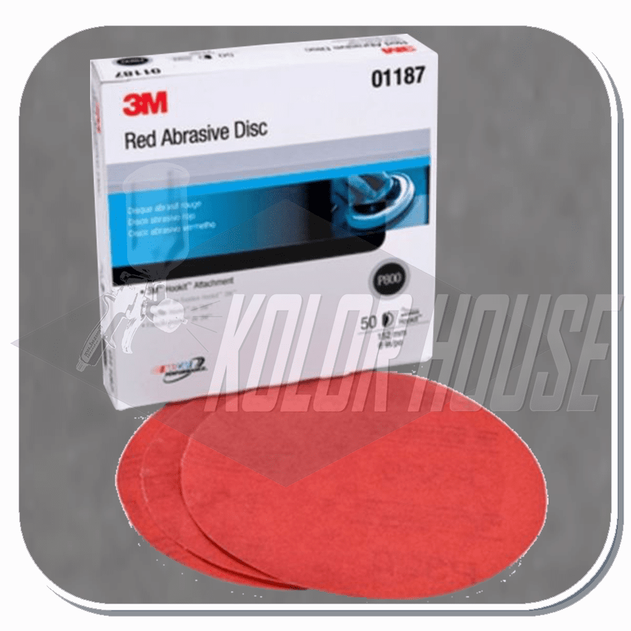 3M 6 in, P800, Red Abrasive Hookit Disc 316U, 50 discs per box