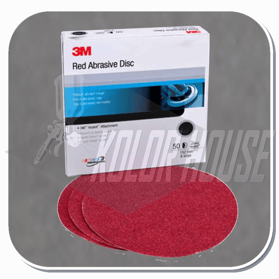 3M Red Abrasive Hookit Disc, 01302, 5 in, P80D, 50 discs per box, 6 boxes per case