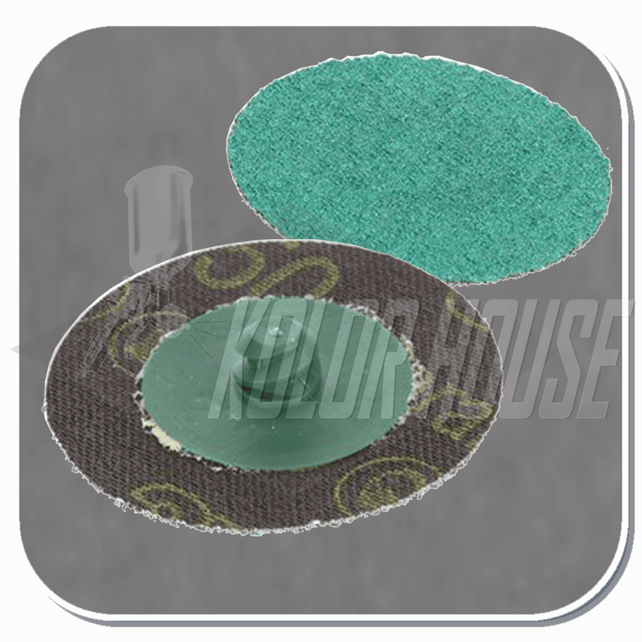 3M Roloc Green Corps Abrasive Disc, 3 in, 50, PN01406
