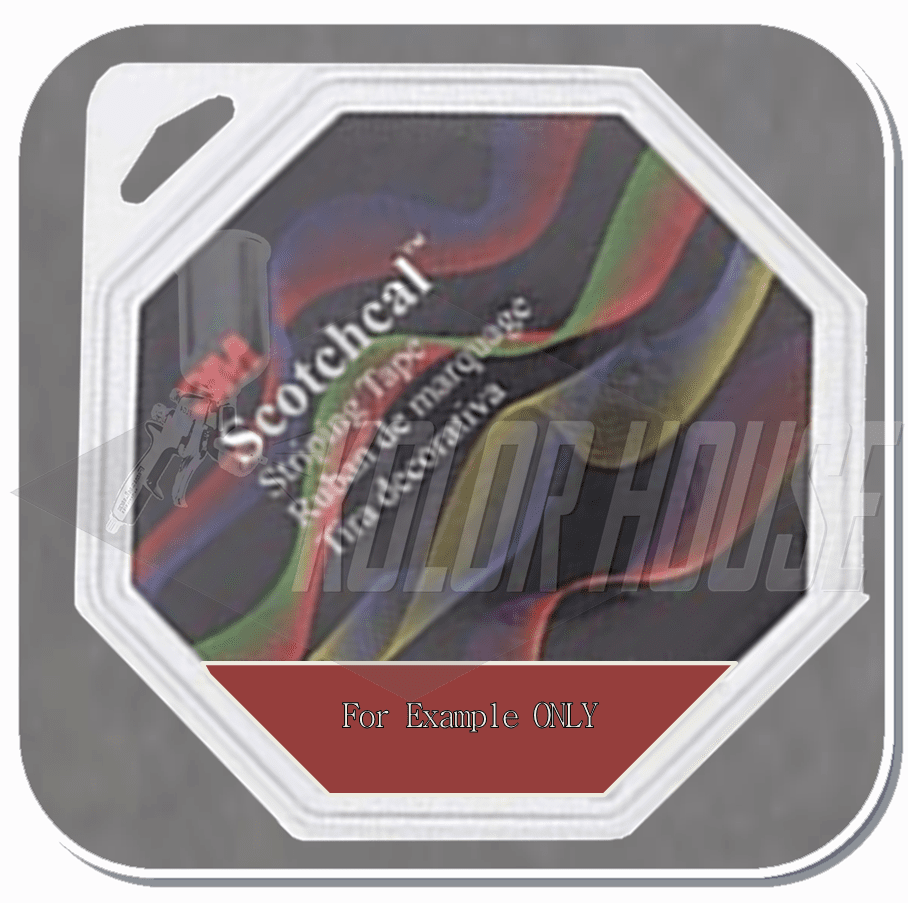 3M™ Scotchcal™ Striping Tape,  Dark Red, 3/16 in x 150 ft (upc code-00051141720661)
