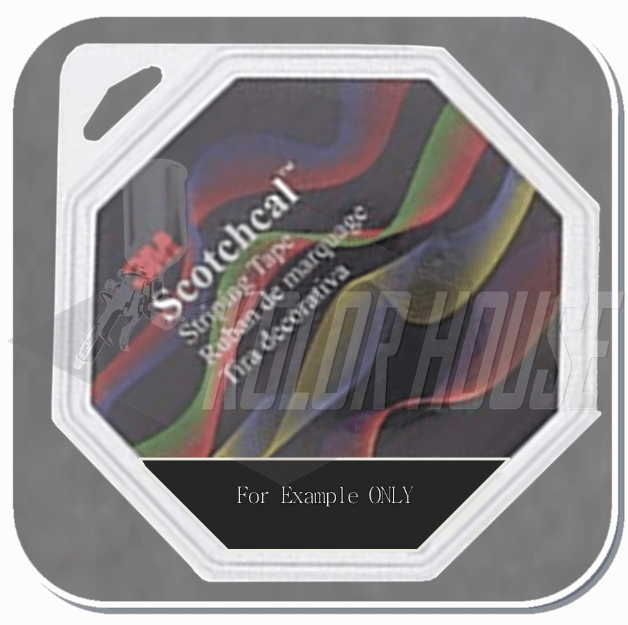 3M™ Scotchcal™ Striping Tape,  Low Gloss Black, 3/16 in x 150 ft (upc code-00051141720937)