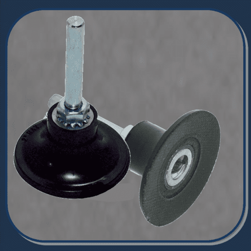 AES-5540 3in  ROLOC STYLE 1/4 ARBOR BACKUP PAD