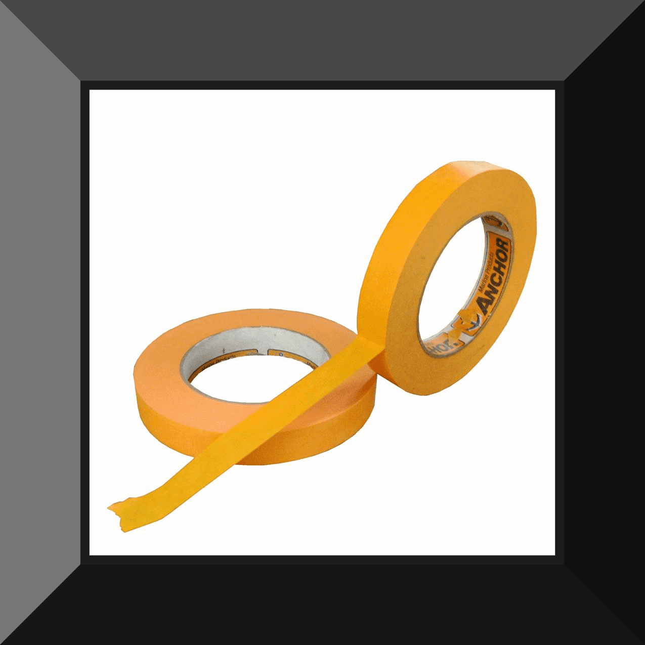 AME-OM-1855 ORANGE MASK MASKING TAPE 3/4 in SOLD BY THE ROLL 12 ROLLS PER SLEEVE 48 ROLLS PER CASE