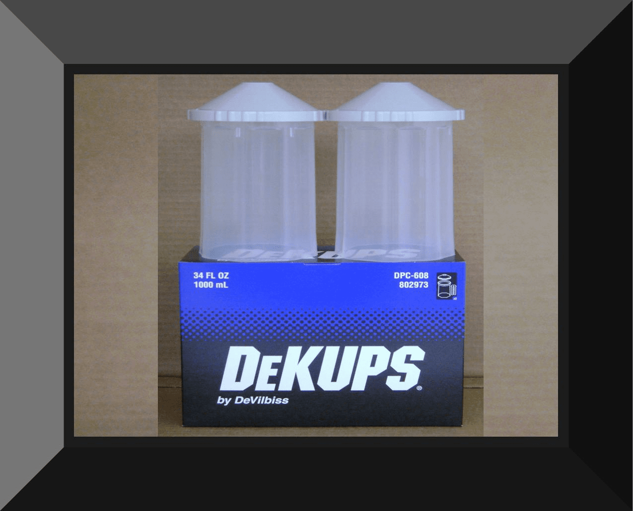 DEV-802973 DEVILBISS DPC-608 34oz REUSABLE HARD FRAME FOR 34oz LINERS 2per