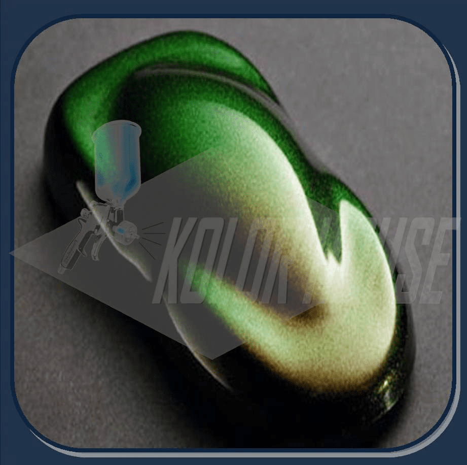 """""""DISCONTINUED"""" HOC-KPF102 C01 HOUSE OF KOLOR KAMELEON PEARL """"COPPER RED TO GREEN"""" 90 micron 2oz JAR"""