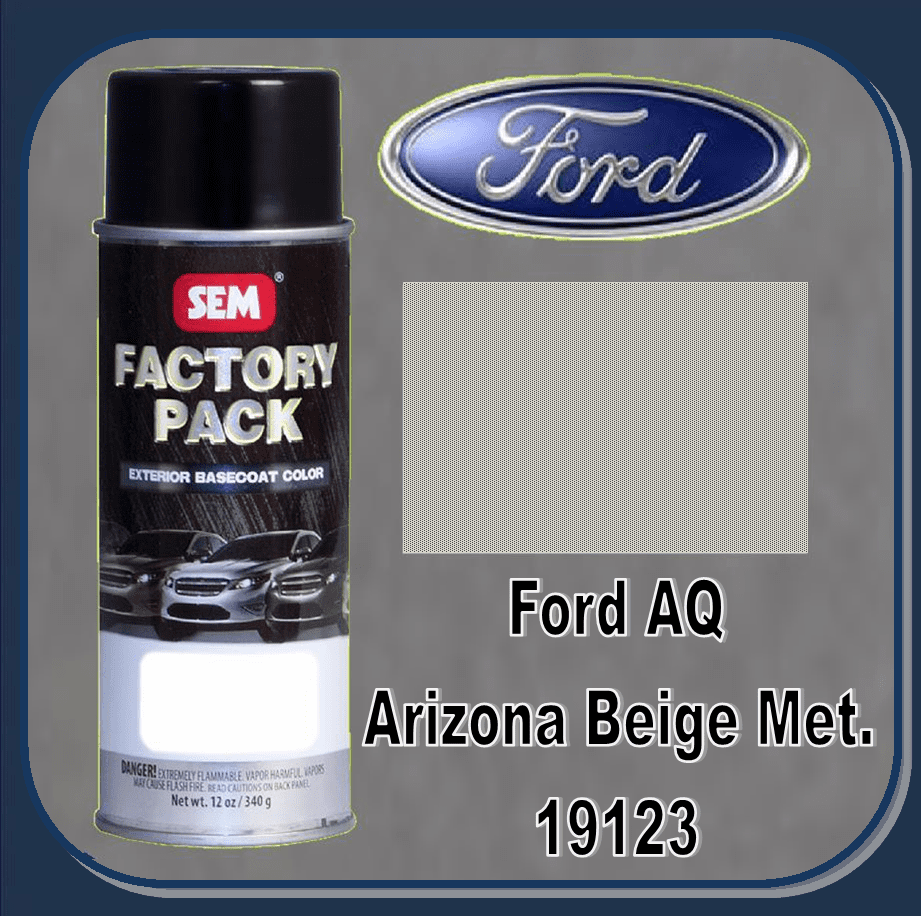 """DISCONTINUED"" SEM-19123 SEM Factory Pack Basecoat Ford Paint Code AQ ""ARIZONA BEIGE"" 12oz Aerosol"