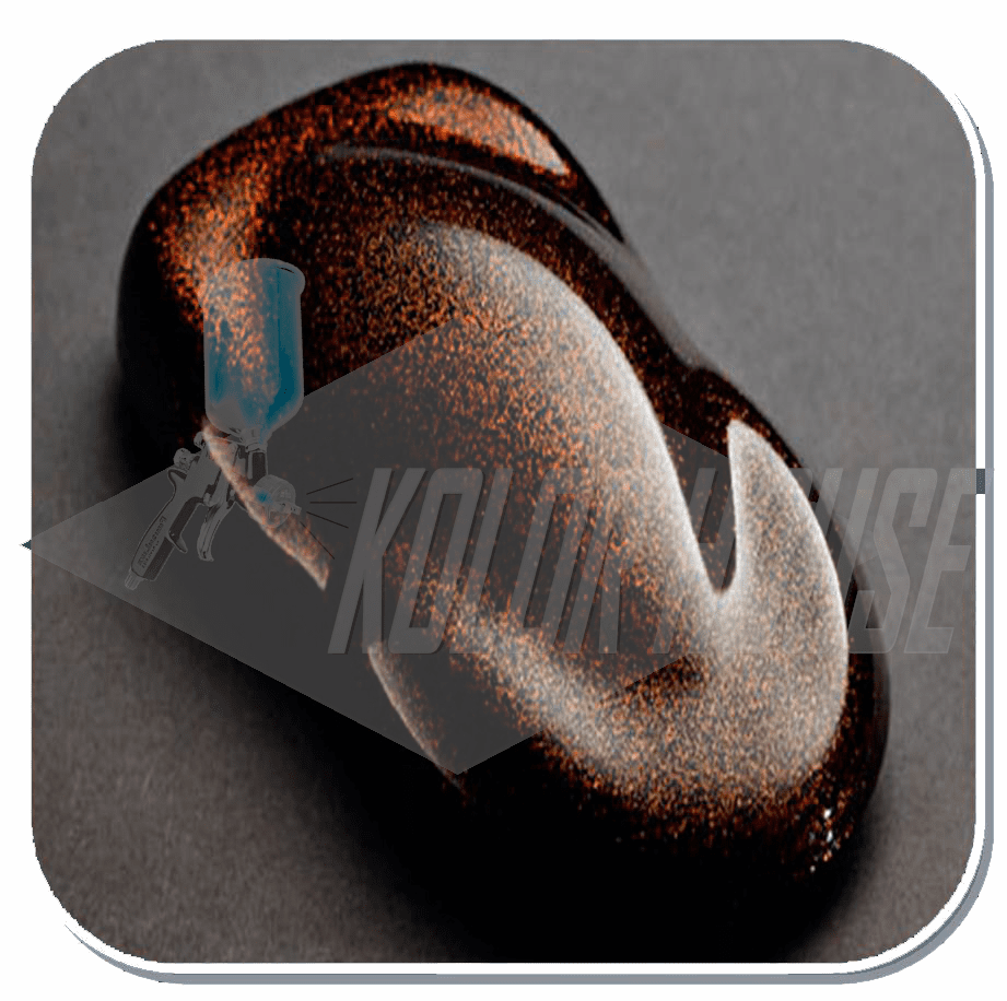 "HOC-F18 C01 HOUSE of KOLOR ""ORANGE"" METAL FLAKE"