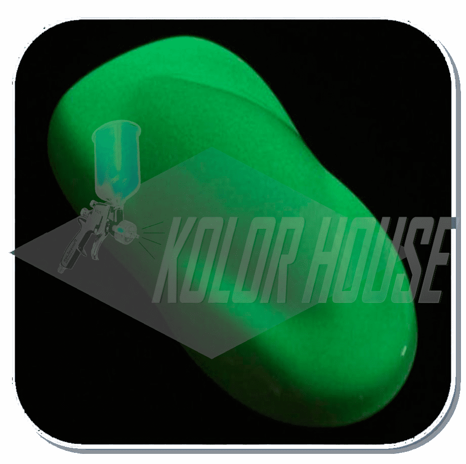 "HOC-KLG100 C01 HOUSE OF KOLOR ""GREEN"" KOSMIC LONG-GLO™ 4oz CAN GLOW IN THE DARK PAINT"