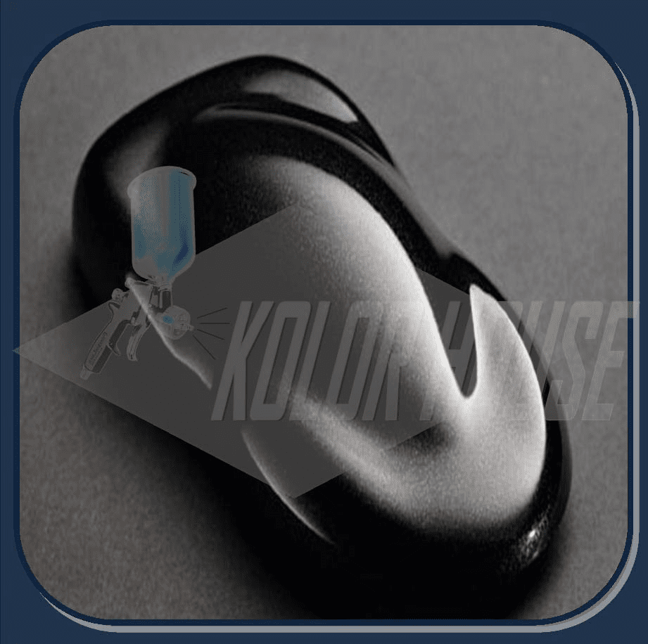 "HOC-PBC100 Q01 HOUSE OF KOLOR ""BLACK SPARKLE"" SHIMRIN® DESIGNER PEARL QUART"