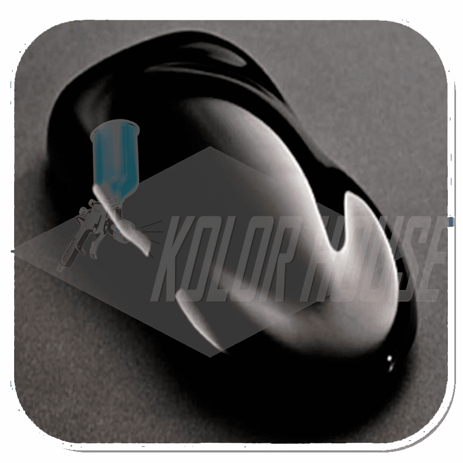 "HOC-S2-25 Q01 House of  Kolor ""JET BLACK"" Shimrin 2 Basecoat Quart"