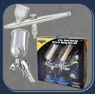 HVLP GRAVITY GUNS, MULTIPLE GUN KITS, & AIR BRUSHES