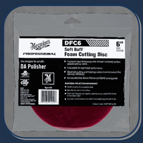 MEG-DFC6 Meguiar's Soft Buff DA Foam Cutting Disc 6""