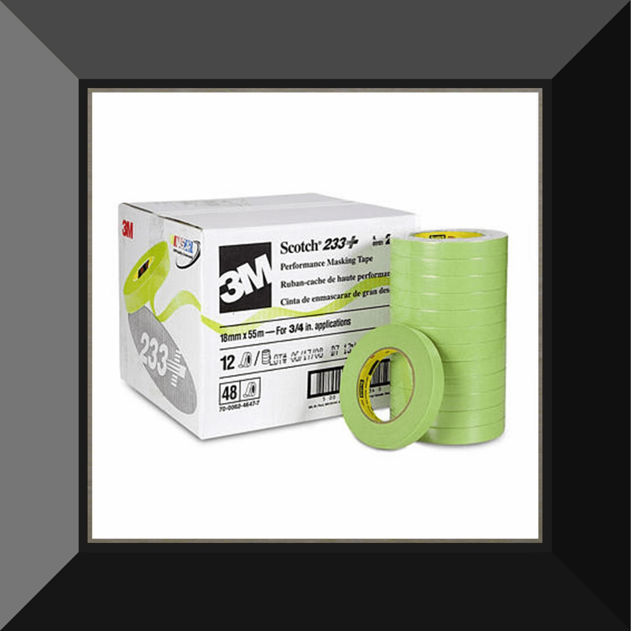 "MMM-26334 3M 3/4in GREEN MASKING TAPE ""SOLD BY THE ROLL"""