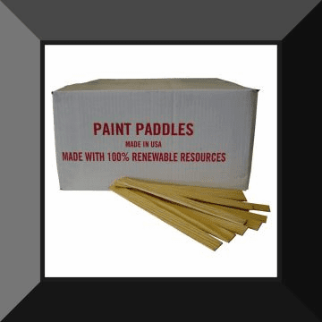 PAINT PADDLES Wooden Stir Sticks Case by Volume. (AVG Case Count Per Pallet is 940)