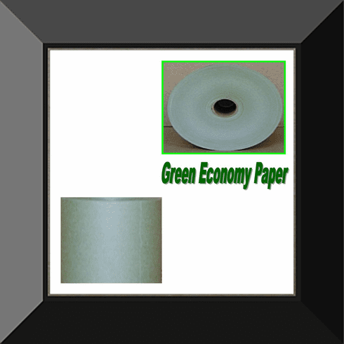 PPC-006 6IN ECONOMY GREEN MASKING PAPER SOLD BY THE LOG. LOG CONTAINS 6 ROLLS
