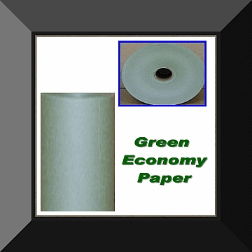 PPC-012 12 IN ECONOMY GREEN MASKING PAPER 3 Rolls Per Log. Sold By Log Only