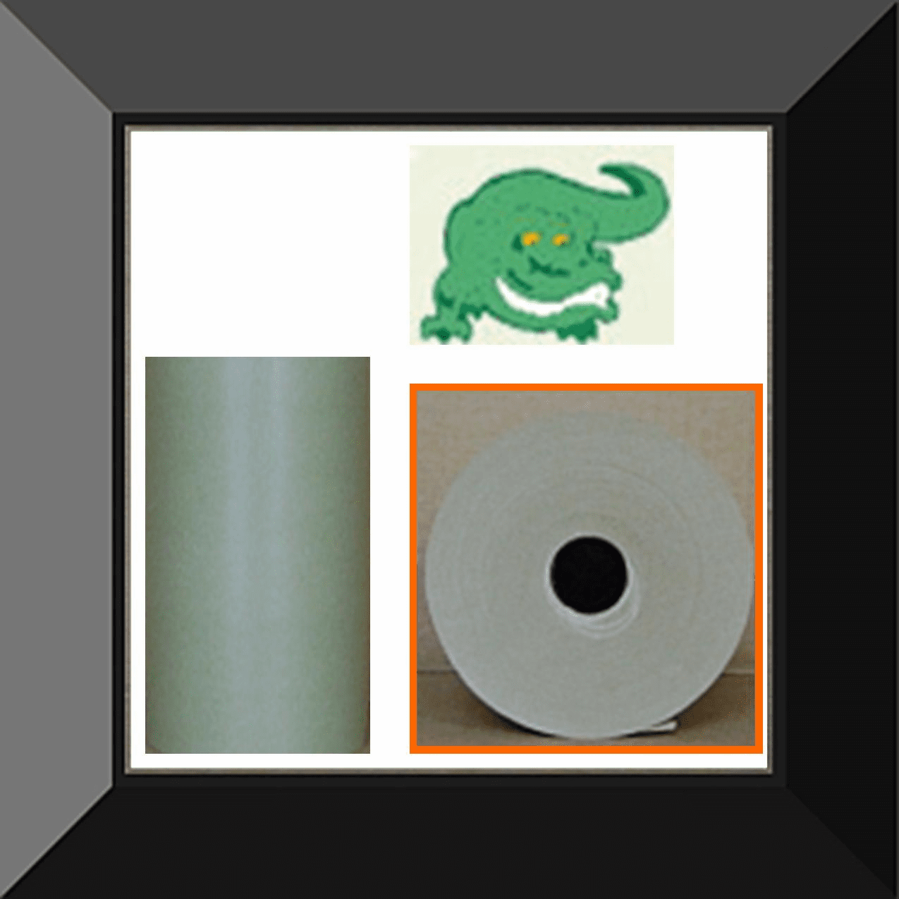 PPC-PG12E Gator Back Green Poly Coated 12in wide X 500ft Masking Paper. Sold as log of three rolls