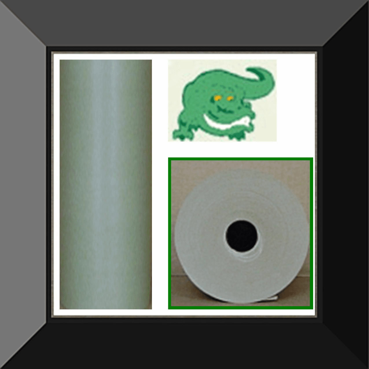 PPC-PG18E Gator Back Green Poly Coated 18in wide X 500ft Masking Paper. Sold in log of two rolls